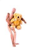 Amor entre el maniquí y el oso Imagenes de archivo