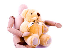 Amor entre el maniquí y el oso Fotografía de archivo libre de regalías