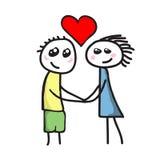Amor entre el muchacho y la muchacha Imágenes de archivo libres de regalías