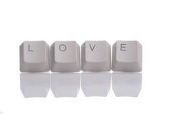 AMOR escrito con los botones del teclado Fotografía de archivo
