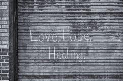 Amor, esperanza, curando Imagen de archivo libre de regalías