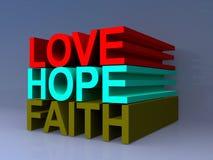 Amor, esperanza y fe Fotos de archivo libres de regalías