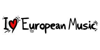 Amor europeu do estilo da música ilustração stock