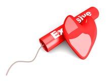 Amor explosivo Foto de archivo libre de regalías