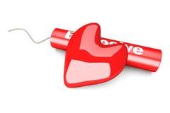 Amor explosivo Imágenes de archivo libres de regalías