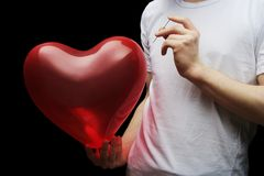 Amor explosivo Imagens de Stock