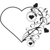 Amor floral do vetor ilustração stock