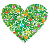Amor floral verde del resorte y del verano stock de ilustración