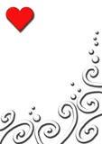 Amor, folha Fotografia de Stock