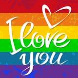 Amor gay de la bandera ilustración del vector