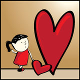 Amor grande. Imágenes de archivo libres de regalías