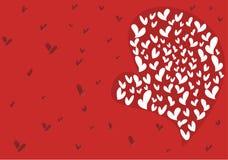 Amor grande para la tarjeta del día de San Valentín Fotos de archivo libres de regalías