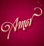 AMOR hand lettering (vector) Royalty Free Stock Photo