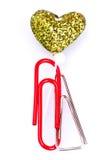 Amor I del Paperclip Foto de archivo libre de regalías