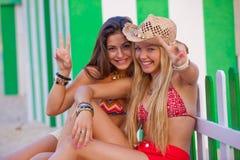 Amor Ibiza dos adolescentes Fotografia de Stock