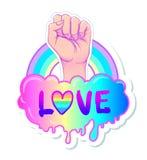 Amor igual Cartel inspirado del orgullo gay con espectro del arco iris libre illustration