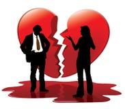 Amor inoperante ilustração do vetor