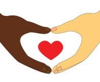Amor interracial de los pares Fotos de archivo libres de regalías