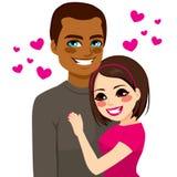 Amor interracial de los pares Foto de archivo libre de regalías