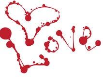 Amor. Jogo dos borrões e das manchas. ilustração do vetor