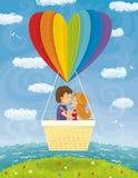 Amor joven de los pares que viaja junto stock de ilustración