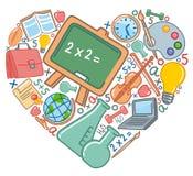 Amor a la escuela Imagen de archivo libre de regalías