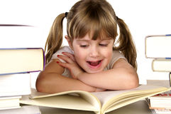 Amor a ler Fotografia de Stock