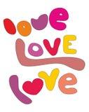 Amor, amor, letras del vector del amor aisladas en el fondo blanco libre illustration