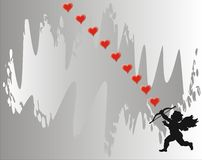 Amor - Liebeskarte - Vektor Lizenzfreies Stockfoto