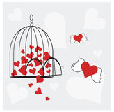 Amor livre Fotografia de Stock