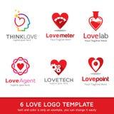 Amor Logo Template Design Vetora Imagem de Stock Royalty Free