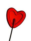 Amor - lollipop da forma do coração Imagem de Stock