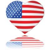Amor los E.E.U.U. Fotografía de archivo libre de regalías