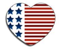 Amor los E.E.U.U. Imagen de archivo libre de regalías