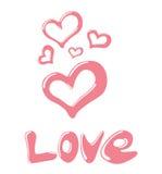 Amor lustroso na cor-de-rosa Ilustração do Vetor