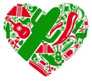 Amor a México stock de ilustración