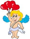 Amor mit Ballonen stock abbildung