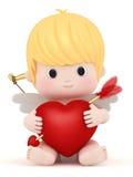 Amor mit Bogen und Pfeil stock abbildung
