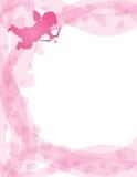 Amor mit Bogen und Pfeil auf Strudel-Rand Lizenzfreies Stockfoto