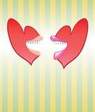 Amor moderno de fala dos corações Fotografia de Stock Royalty Free
