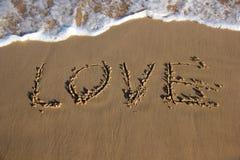 Amor na areia Imagem de Stock