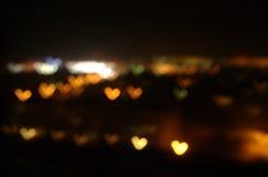 Amor na cidade da noite Fotografia de Stock