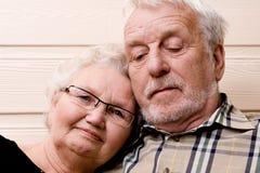 Amor na idade avançada Foto de Stock