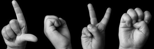 Amor na língua de sinal Fotografia de Stock Royalty Free