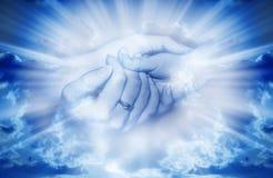 Amor na luz divina Imagem de Stock