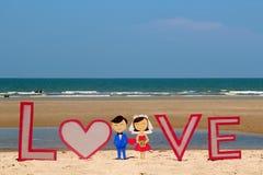 Amor na praia Imagens de Stock