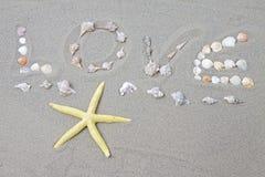 Amor na praia Foto de Stock Royalty Free