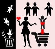 Amor na rede Imagens de Stock