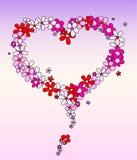 Amor nas flores Imagens de Stock