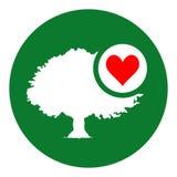 Amor natural do coração ilustração stock